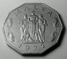 MALTA 50 CENTESIMI 1972 moneta di rame-nichel-GRANDE ASSEDIO Monumento