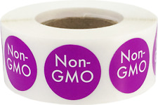Non-Gmo Food Rotation Labels .75 Inch Round Circle Dots 500 Adhesive Stickers
