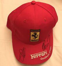 Sebastian Vettel & Alain Prost Signed  VIP Ferrari Quebec F1
