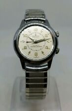 Mega Rare 1960s Cronel Men's Alarm Watch 17 Jewel Self Winding Works