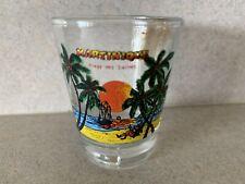 Liquor Shot Glass ~ Island of MARTINIQUE in the Caribbean ~ Sail Boat at Sea