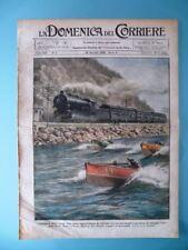 La Domenica del Corriere 29 Gennaio 1928 Velocità Motoscafo Treno Hudson Tredici