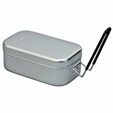 "TRANGIA ALUMINUM BACKPACKERS MESS TIN SMALL 6.5""x3.5""x2.6"" WITH HANDLE #500210"