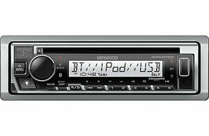 Kenwood KMR-D378BT Marine Boat CD receiver with Alexa, Bluetooth, Aux & USB