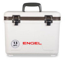 NEW DESIGN 2018 ! Engel Cooler Dry Box WHITE 13 Quart w/ Shoulder Strap and Tray