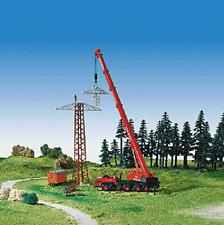 Kibri HO Scale Kit Electric Tower Under Construction Set #8534