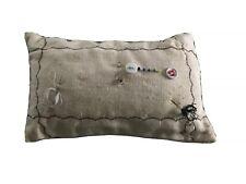 Vintage Handmade Pin Cushion Cute Sewing Needles