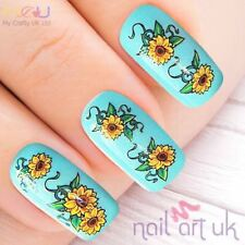 Yellow Sunflower Flower Adhesive Nail Art Stickers