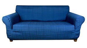 Elastic Slip Sofa Cover 1 2 3 seater TIFFY (BLUE)
