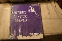 Suzuki RM80 Factory Service Manual 1991