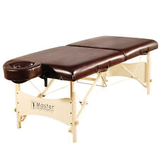 Master Massage 30 inch Larger Size Balboa Portable Massage Table Package Brown