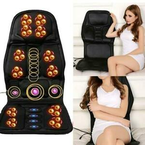 US 8 Mode 3 Intensity Seat Massager Cushion Back Electric Chair Pad for Car Home