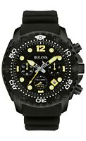 Bulova Men's Sea King Quartz Chronograph Date Calendar Black Band 48mm Watch