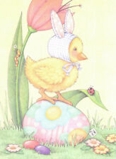 Chick Bunny Ears Ladybug Egg-Handcrafted Easter Magnet-W/Mary Engelbreit art