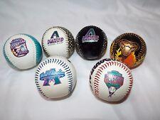 Vintage 1998 Inaugural & 2001 World Series Arizona Diamondbacks 6 baseball balls