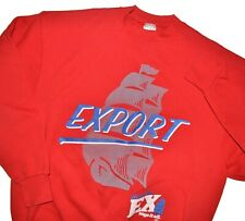 Vintage Molson Export Mens Size XL Red 1990s Made in Canada Beer Shirt