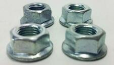 """QTY of 4 3/8 inch 24t Bicycle Axle Nut BMX Beach Cruiser 10mm  3/8"""" with flange"""