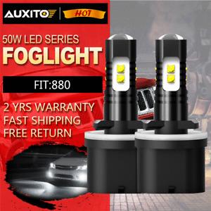 2X 880 890 High Power 80W 6000K Xenon White LED Fog Light Bulb DRL 892 893 899