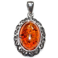 4g Authentic Baltic Amber 925 Sterling Silver Pendant Jewelry N-A544