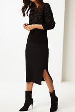 M&S PER UNA  Textured Knitted Pencil Skirt