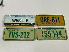 Vtg Collectible MiniBike License Plates Set of 4! Oregon, Idaho, Wash., N Dakota