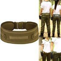 MOLLE Tactical Waist Belt Military Soft Padded Patrol Combat Battle Web Belt New