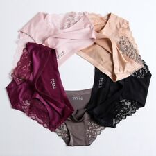 Women Girls Soft Sexy Lace Ice Silk Panties Seamless Briefs Underwear Panties