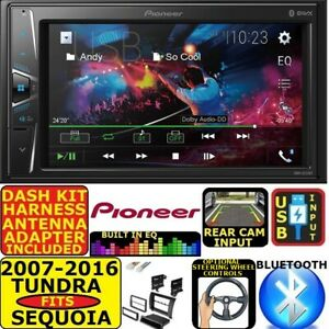 FITS 07-16 TUNDRA-SEQUOIA PIONEER TOUCHSCREEN BLUETOOTH USB CAR RADIO STEREO PKG
