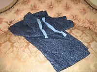 Savile Row Men's Pyjama Bottoms - 100% Cotton Classic Casual XL,Blue Polka Dot