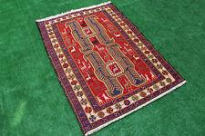 Turkish Kilim Rug 40''x55'&# 039; Handwoven Animal Pattern Sumak Area Kilim 104x141cm