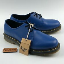 NEW Dr. Martens 1461 Oxford Shoes Blue Smooth Leather Unisex Men's 9 Women's 10