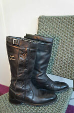 VINTAGE LEWIS LEATHERS MOTORCYCLE BOOTS SIZE 7 MADE IN ENGLAND RIRI ZIPS