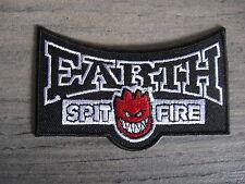 Aufnäher Patch Earth Spit Fire Racing Motorsport Tuning Kutte Chopper Aufbügler