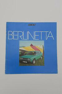 FIAT 128 Berlinetta Sales Brochure from 1978