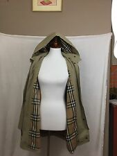 Vintage Burberry Trench Coat Women's Large