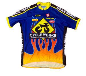 VTG 90's Pearl Izumi PowerBar Cycling Jersey Size Men's XXL Made USA
