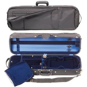 Bobelock 1017 Hill Style Oblong 4/4 Violin Case with Blue Velvet Interior