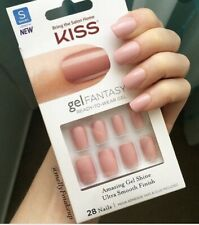 Kiss Pink Artificial Fake Stick On Nails