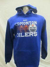 Edmonton Oilers Youth XL Pullover Graphic Hoodie NHL Reebok Blue A12MR