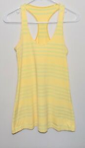 Women's Lululemon Tank Top Yellow Stripes (6) No Tags See Measurements