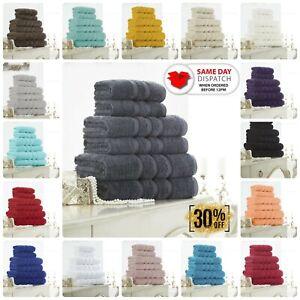 100% COTTON TOWELS ZERO TWIST HAND & BATH TOWEL OR BATH SHEET SUPER SOFT 550 GSM