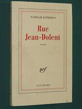 Rue Jean-Dolent Nathalie KUPERMAN NRF Gallimard