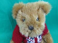 HARROD'S KNIGHTSBRIDGE STUFFED PLUSH TEDDY BEAR RED NAVY KNIT UNION JACK SWEATER