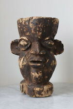 Antique CAMEROON Bamileke sculptured container with human face