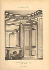 """Gros caractères 1905 """"Le Style Louis xv1"""" CHATEAU DE BAGATELLE-SALLE A MANGER"""""""