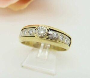 Memory Brillant Diamantring 0,6 Carat SI1 750er Gold