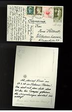 1938 Germany Navy 2 PC Postcard covers Italy Admiral Scheer