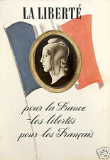 La Liberte Freedom For France Freedom For The French World War 2 Poster 12x8""