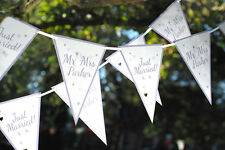PERSONALISED WEDDING BUNTING CONTEMPORARY MR AND MRS BANNERS WEDDING RECEPTION