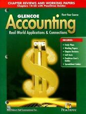 Glencoe Accounting First-Year Course: Chapter Reviews and Working Papers Cha...